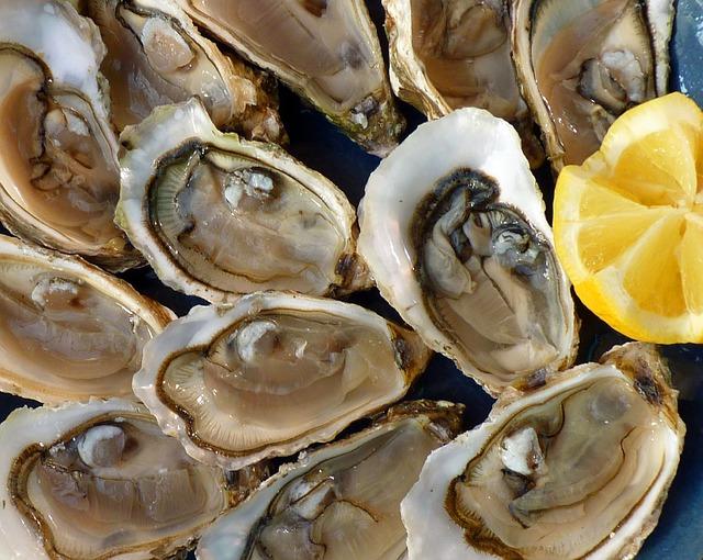 Huître: dans l'alimentation, le zinc est très présent dans les fruits de mer.