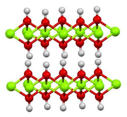 Molécule d'hydroxyde de magnésium : substance active du chlorumagène.