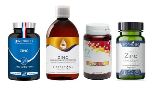 élection des meilleurs produits à base de zinc