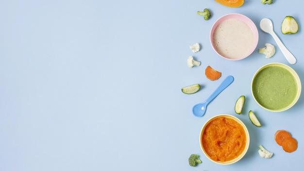Purées pour bébé: diversification alimentaire des enfants de 4 à 12 mois.