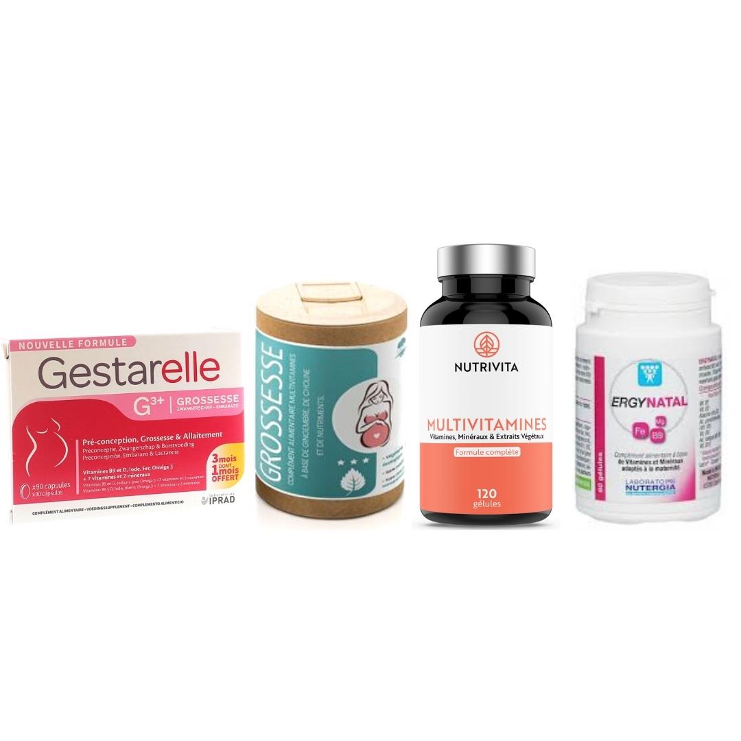 photo des meilleures vitamines grossesse et pour tomber enceinte