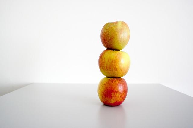 3 pommes représentant le régime 3 pommes.