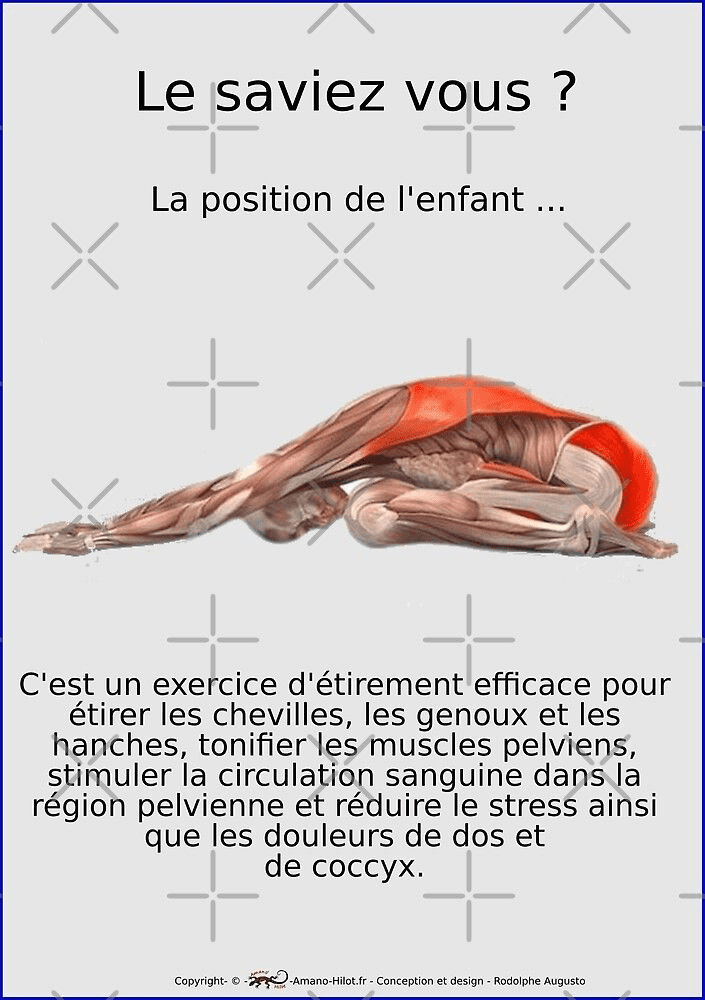 La position de l'enfant, posture de yoga, favorise la fertilité.