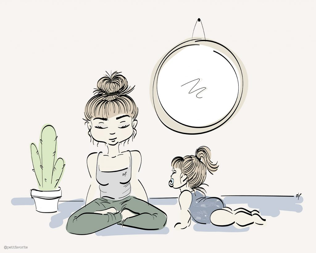 Image représentant un bébé en train de pratiquer le yoga.