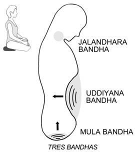 Uddiyana bandha, posture de yoga qui permet de traiter la constipation.