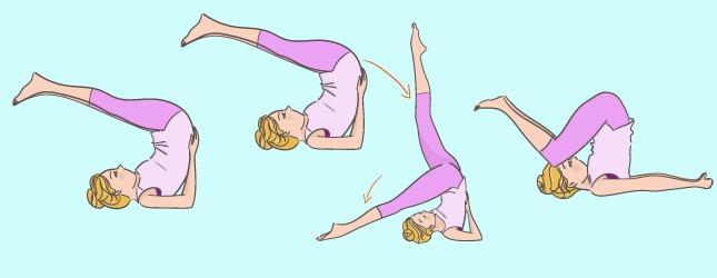 Image représentant la posture de la Chandelle, qui favorise l'endormissement.