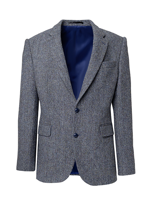 Stylisches Statement: grau-blaues Tweedsakko