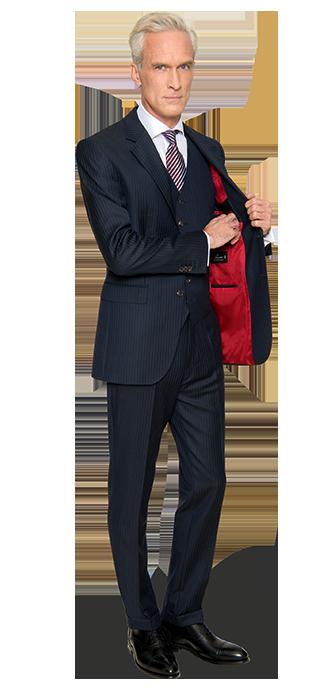 Executive - Anzug Einreiher mit Weste