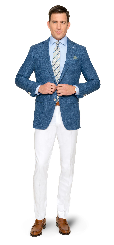Ein Hauch von Hamptons – Sacco und Hose in Blau und Weiß von DOLZER