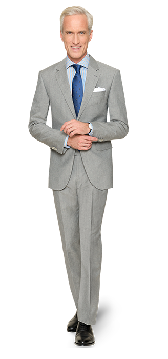 Einer für alle Gelegenheiten – der graue Anzug von DOLZER