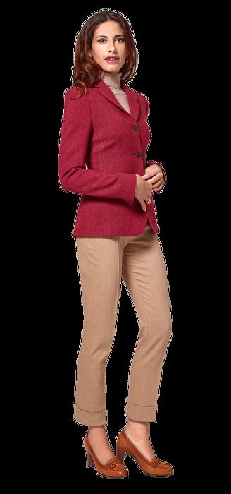 Tweed-Blazer lang