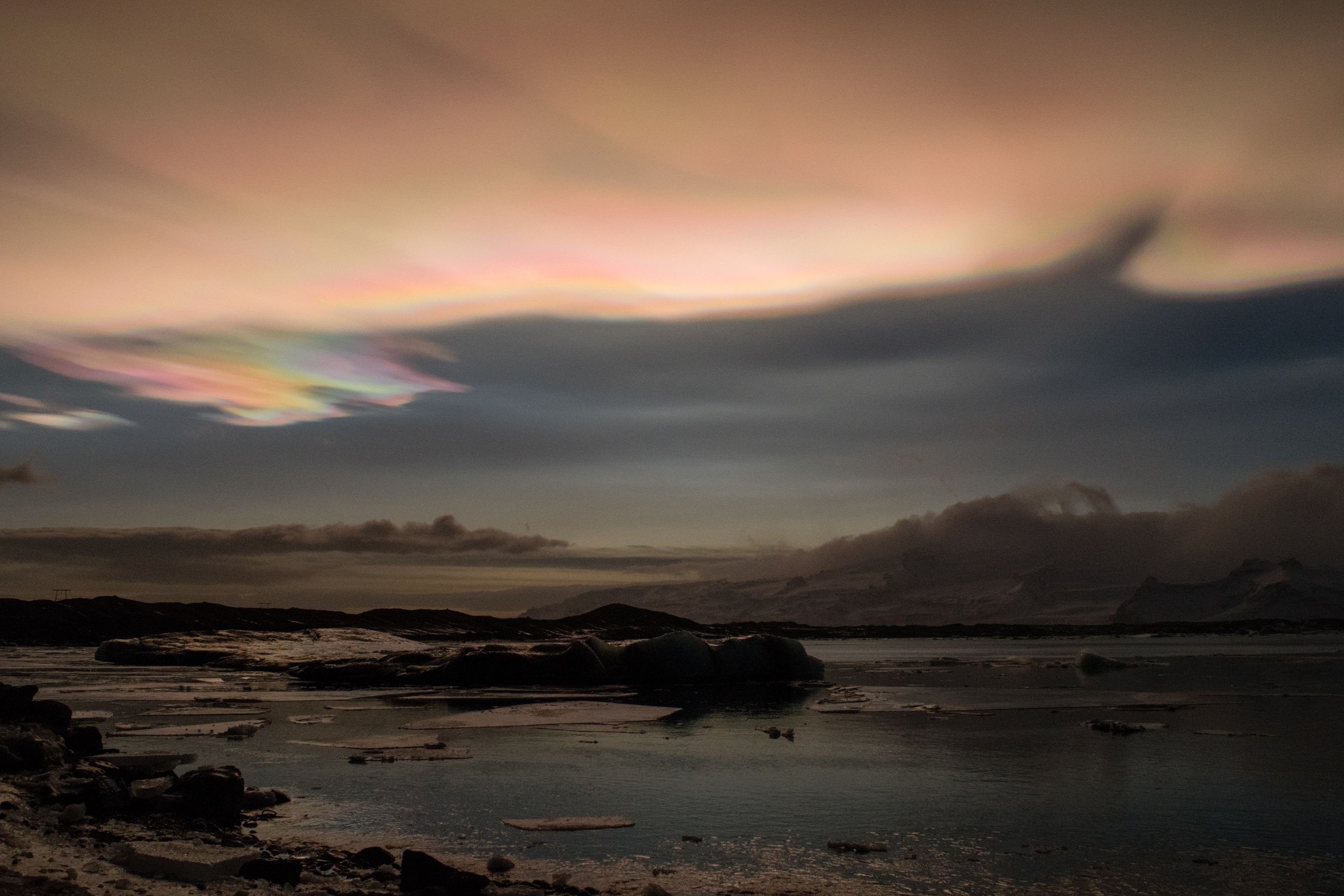 Iceland, Nacreous Clouds