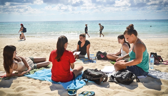 Resultado de imagen para learning spanish in the beach