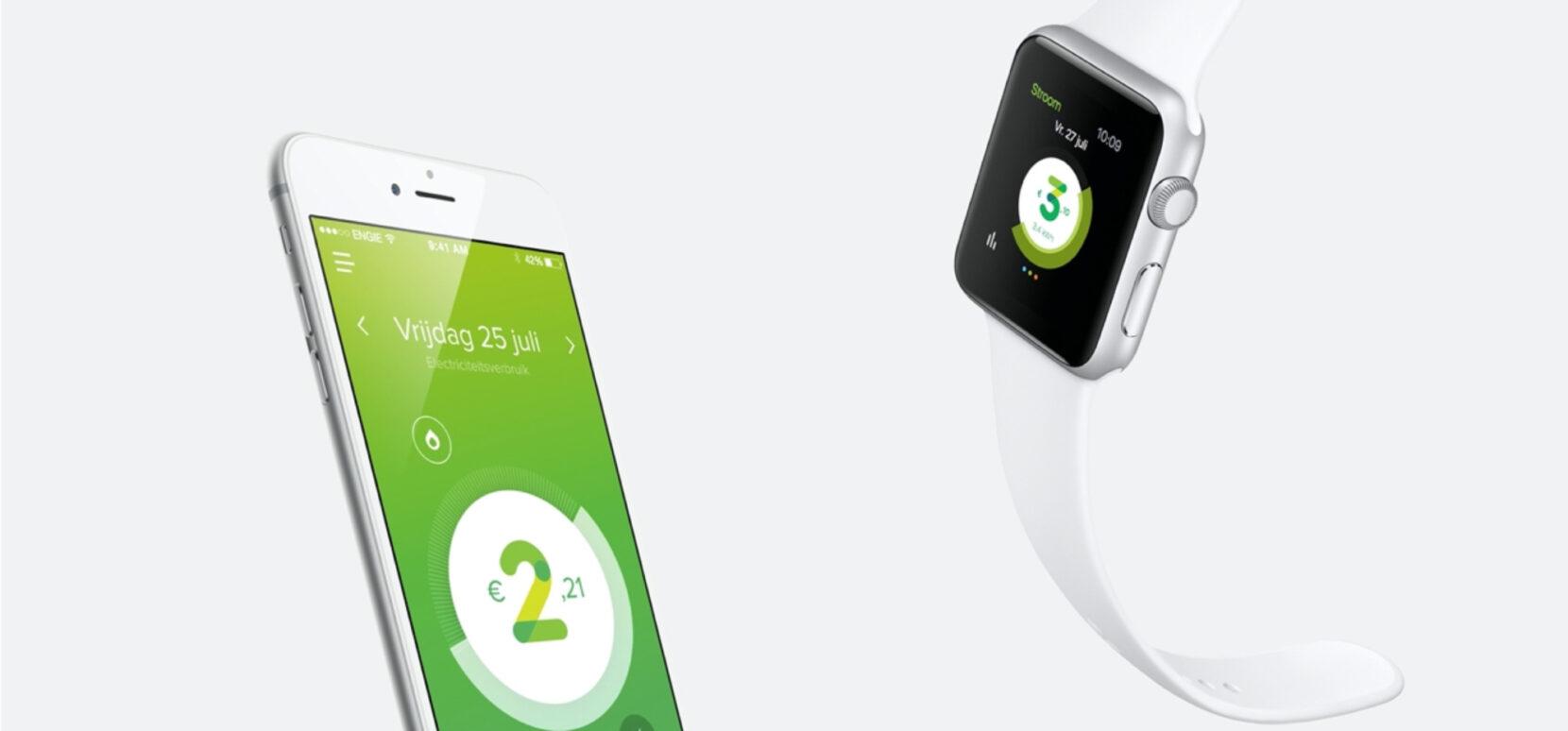 Engie smartphone app case header