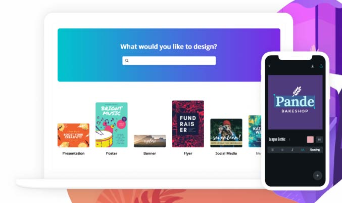 Main page of Canva