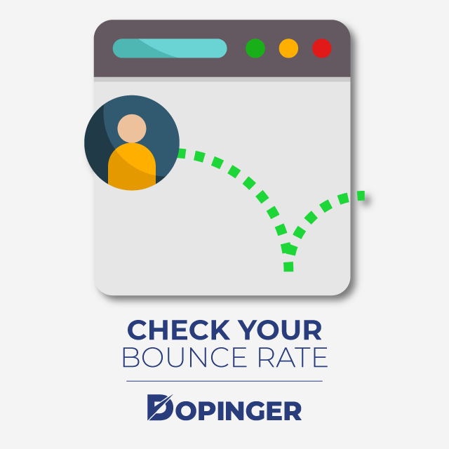 check your bounce rate