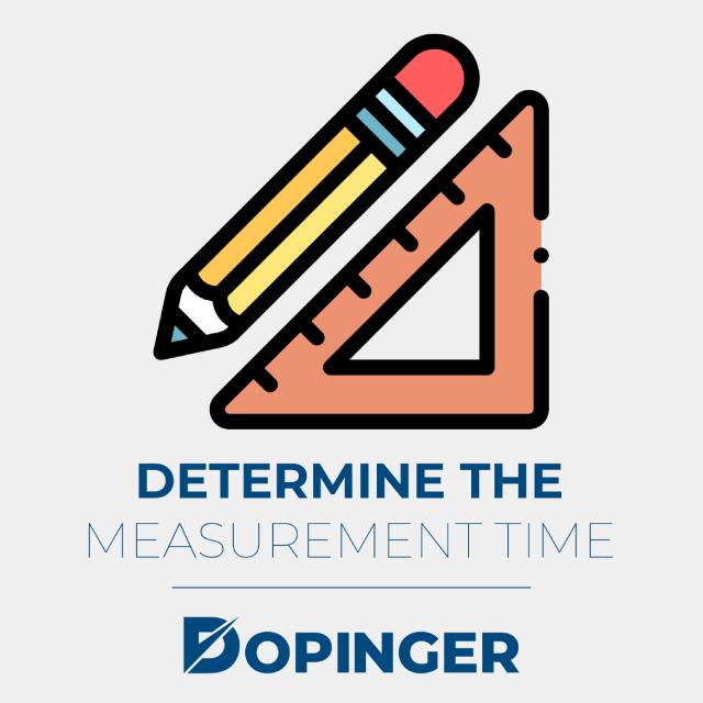 determine the measurement time