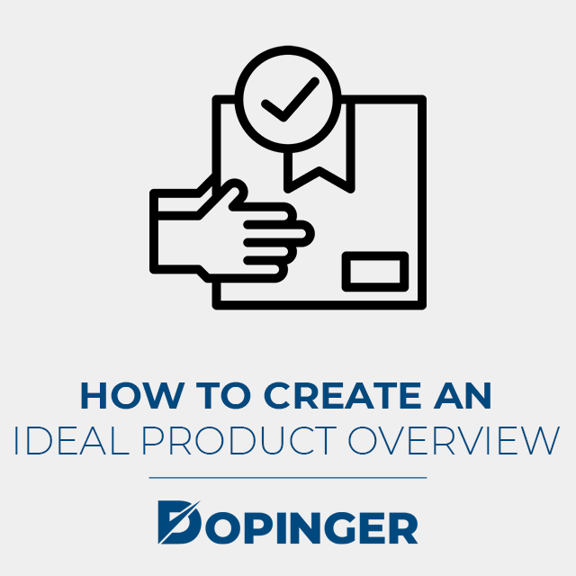 how to create an ideal product overview