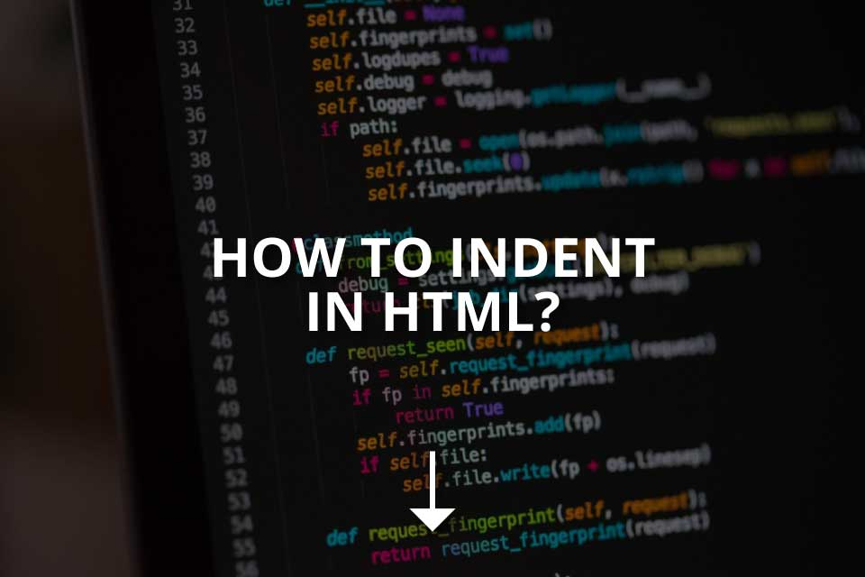 How to Indent in HTML? (Simple Guide)