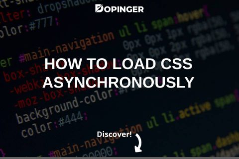 How to Load CSS Asynchronously