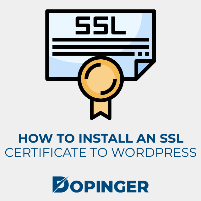 how to install an ssl certification to wordpress