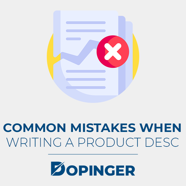 common mistakes when writing a product desc