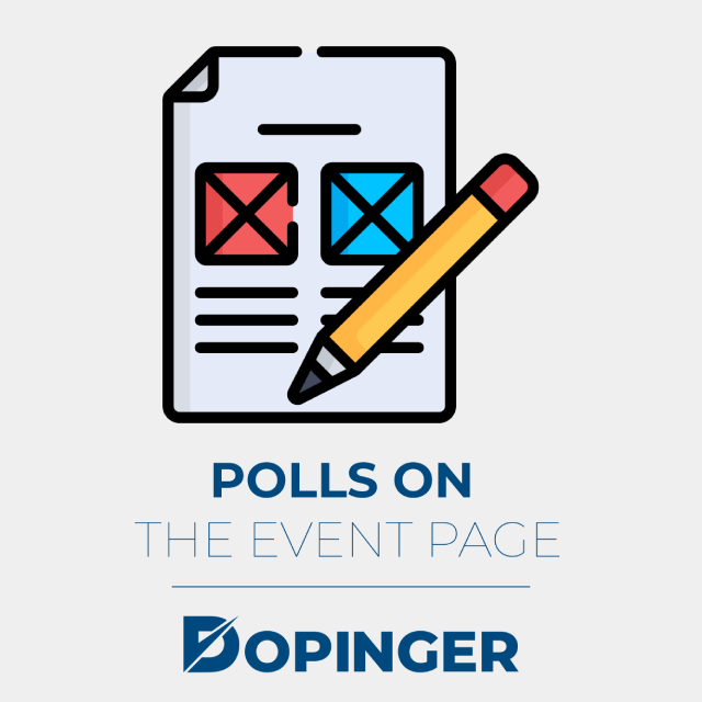 polls on the event page
