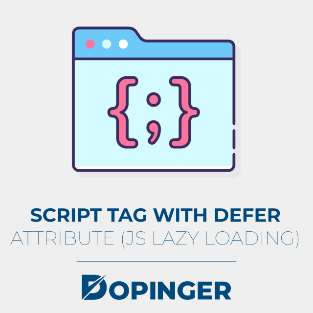 script tag with defer attribute