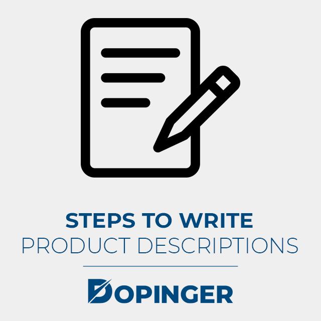 steps to write a product description