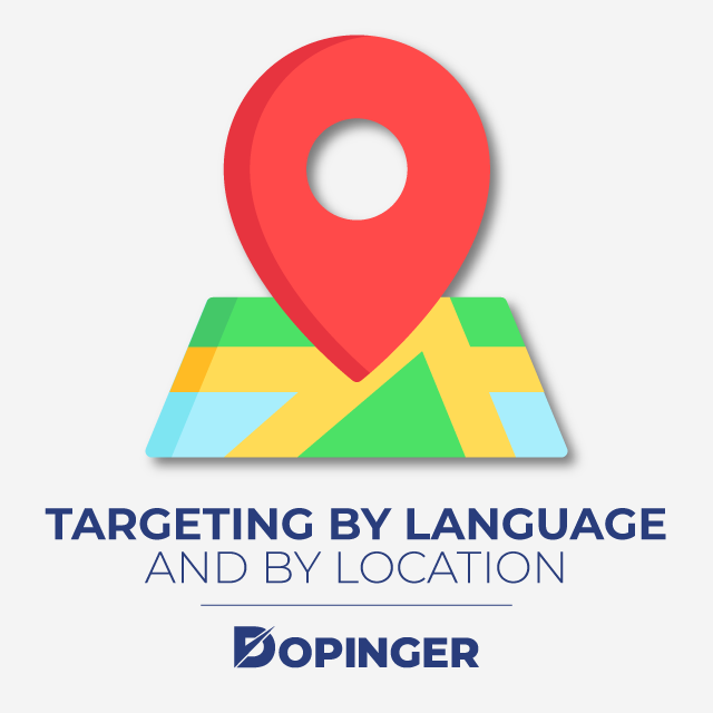 targeting by language and by location