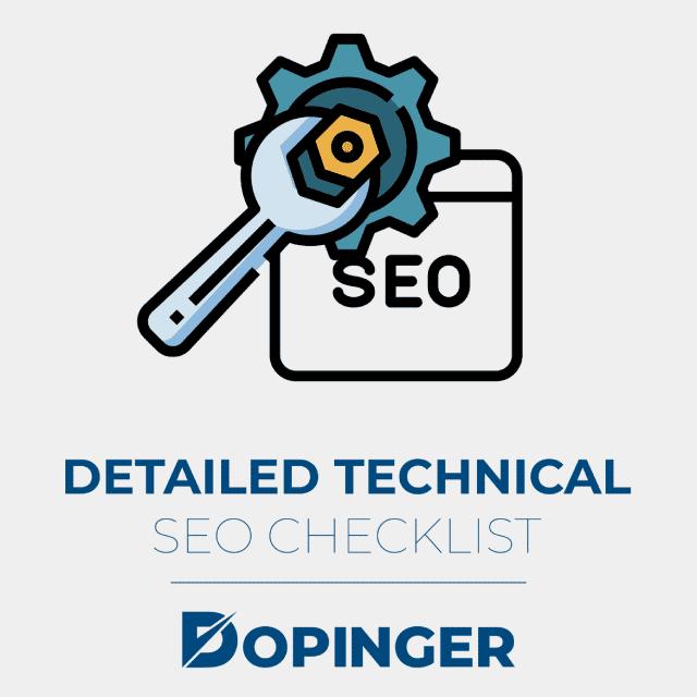 detailed technical seo checklist