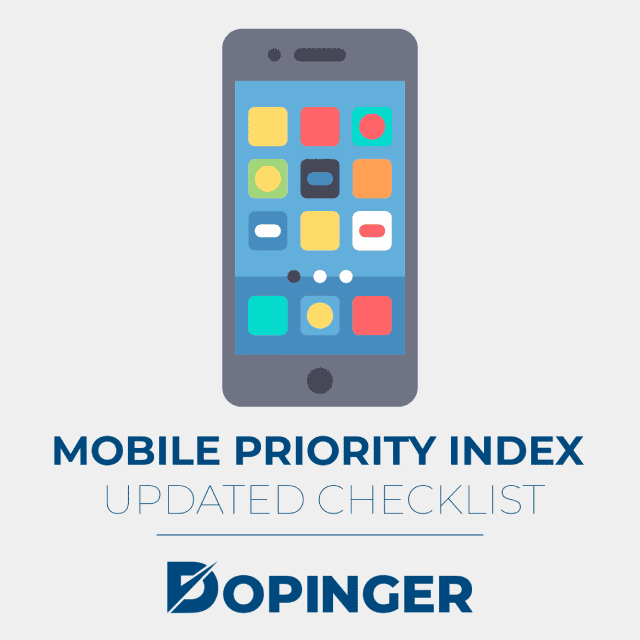 mobile priority index updated checklist