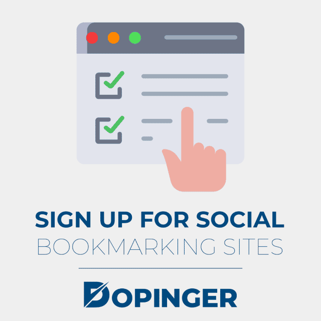 sign up for social bookmarking sites