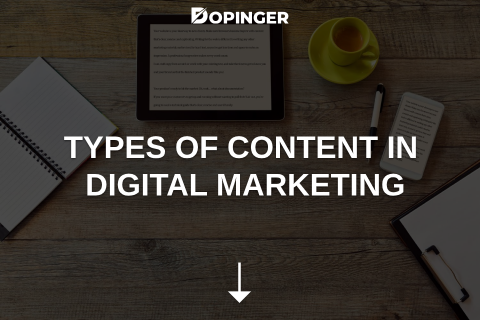 Types of Content in Digital Marketing