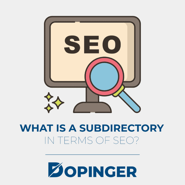 what is a subdirectory in terms of seo