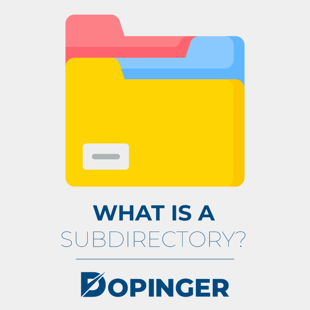 what is a subdirectory