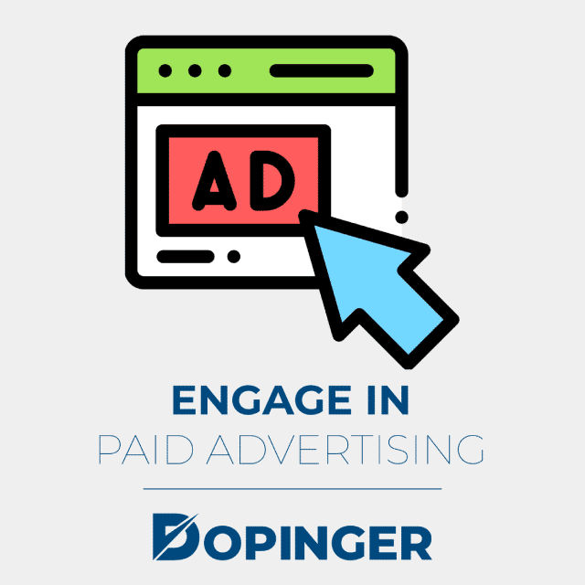 engage in paid advertising