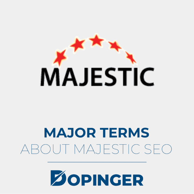 major terms about majestic seo
