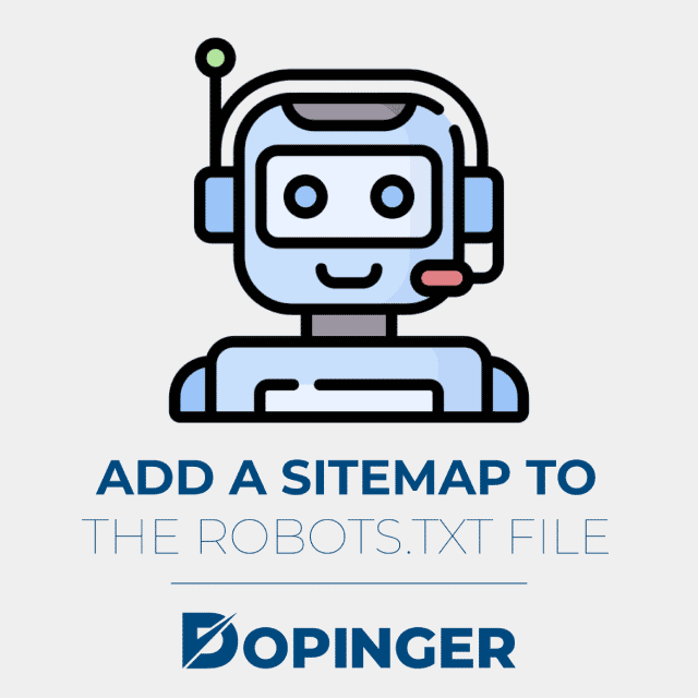 add a sitemap to the robotstxt file