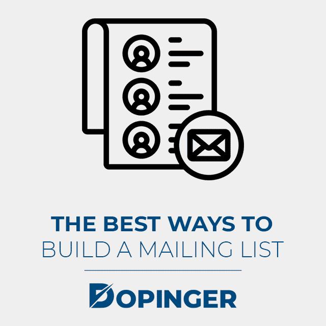 build a mailing list