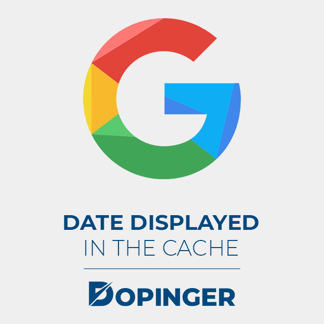 date displayed in google cache
