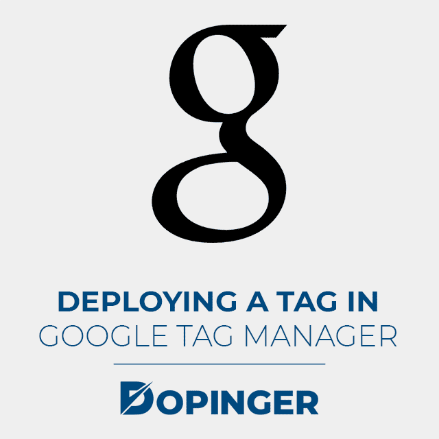 deploying a tag in google tag manager