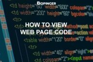 How to View Web Page Code
