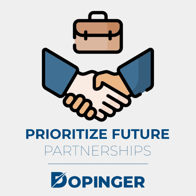 prioritize future partnerships