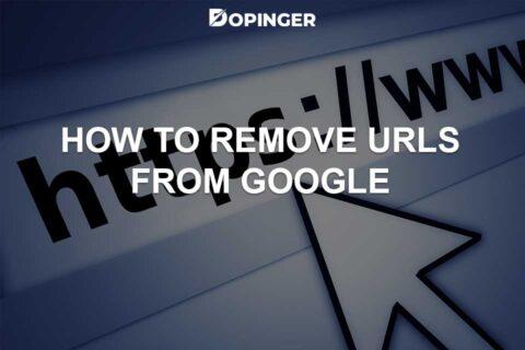 Removing URLs from Google