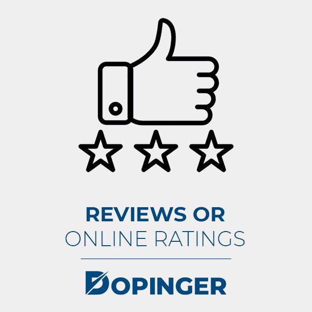 reviews or online ratings