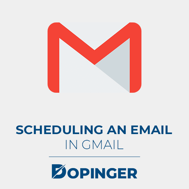 scheduling an email in gmail