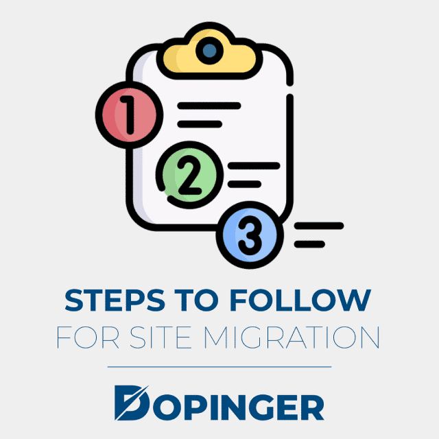 steps to follow for site migration
