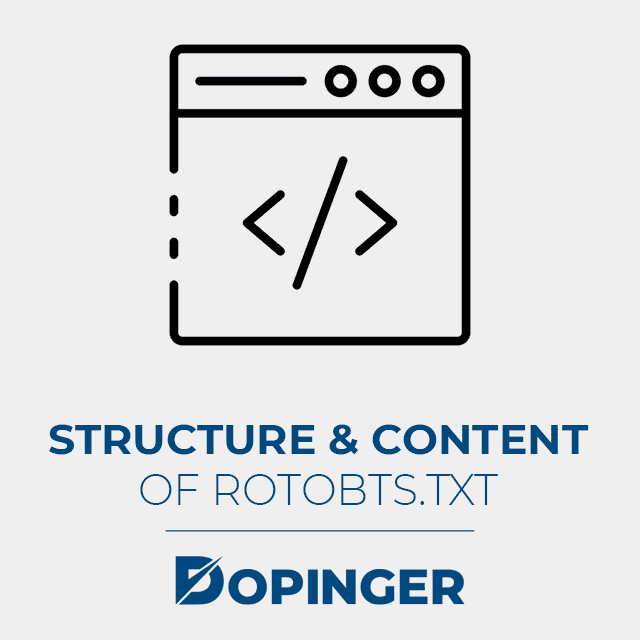 structure and content of a robotstxt file