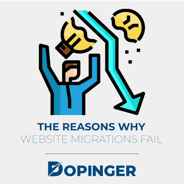 the reasons why website migrations fail
